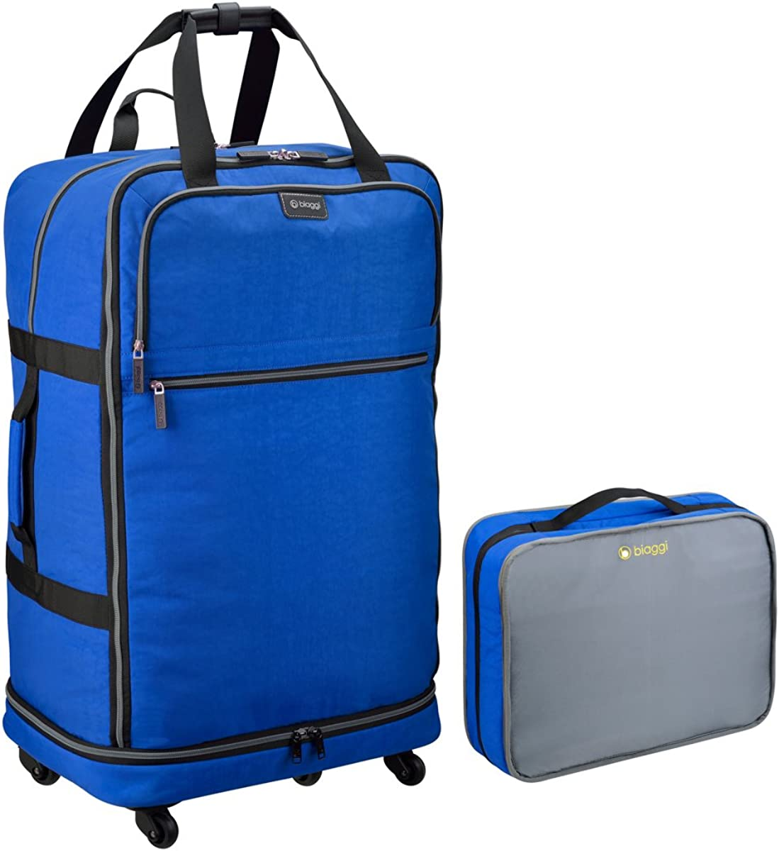 Biaggi Zipsak Micro-Fold Spinner Suitcase- 31-Inch Luggage - As Seen on Shark Tank - Cobalt Blue