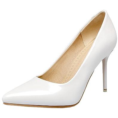 9b36b73ec66 Vitalo Women's Stiletto High Heel Pointed Toe Pumps Ladies Patent ...