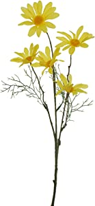 Lily Garden Set of 12 Artificial Cosmos (Yellow)
