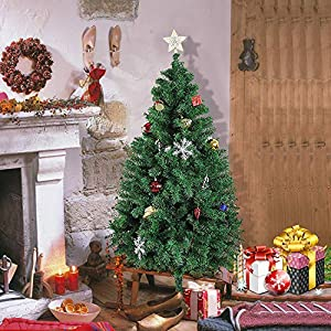 KARMAS PRODUCT Christmas Tree w/Metal Stand, Easy Assembly 100