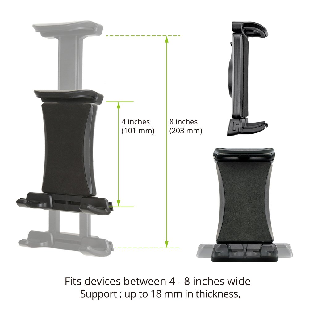 iKross Tablet Mount Holder Universal Car Backseat Headrest Extendable Mount Holder For Apple iPad Pro 10.5/9.7, iPad Air/Mini, Samsung Galaxy Tab, Nintendo Switch, and 7-10.2-inch Tablet - Black by iKross (Image #3)