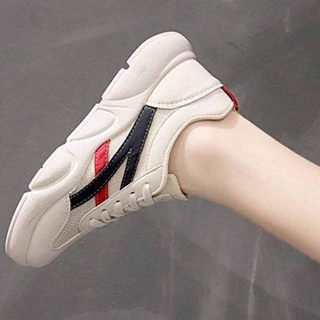 LangfengEU Chaussures Femmes en Printemps Été de Mesh Respirant Chaussures de Sport Casual Tendance a Lacets Endurance Confort Noir