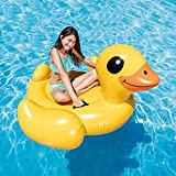 """Intex Yellow Duck Inflatable Ride-On, 58"""" X 58"""" X 32"""", for Ages 14+"""