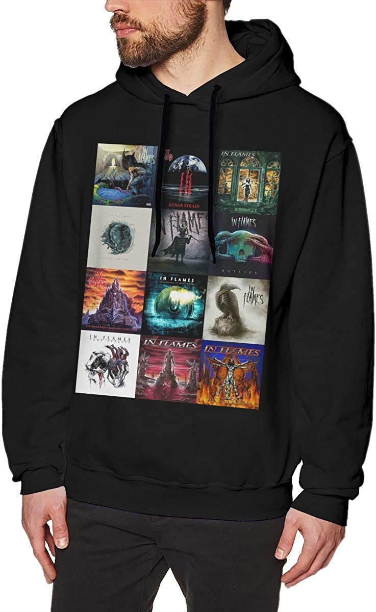 in Flames Band Man's Hoodie Sweater Fashion Classic Long
