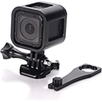 Nechkitter GoPro Hero4 Session hero5 Session Frame Shell Housing,CNC Aluminum Alloy Solid Protective Case Skeleton with Screw and Wrench for Gopro Hero 4 Session Hero 5 Session Black