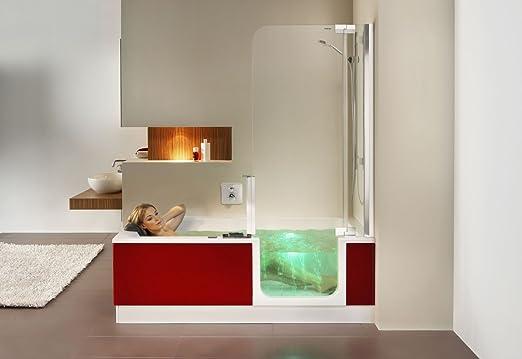Artweger Twinline 2 Whirlpool Badewanne Mit Glas Türe Und Dusche