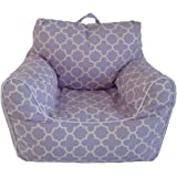 Lavender Printed Chair with Removable Cover