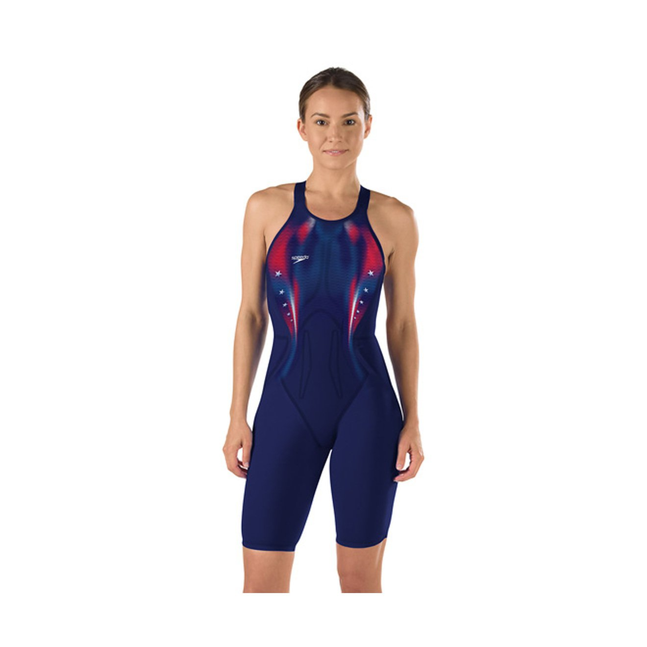 Speedo LZRエリート2 USA Open Back Kneeskin ネイビー