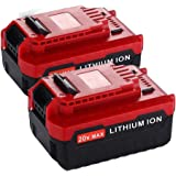 Upgraded 2 Pack 6000mAh 20V MAX Lithium Replacement Battery for Porter Cable 20v Lithium Battery PCC685L PCC680L 20…
