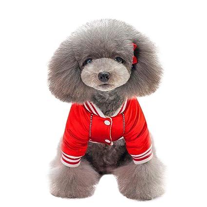 Ropa para Mascotas, Gusspower Chaqueta de Algodon Ropa de Abrigo Invierno Uniforme de Beisbol cálido