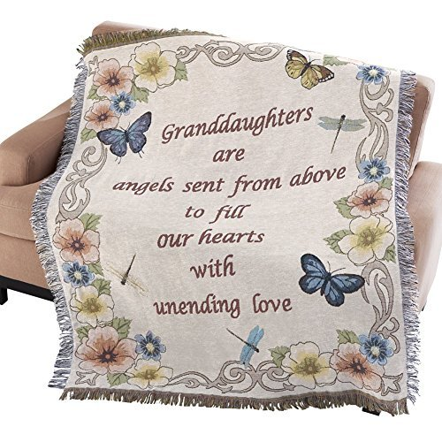 Collections Etc Floral Granddaughter Sentimental Tapestry Throw ()
