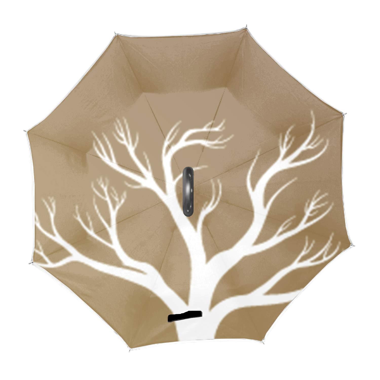 Multi Style Polyester Car Automobile Reverse Umbrellas-Bird With Bamboo Zogpemsy