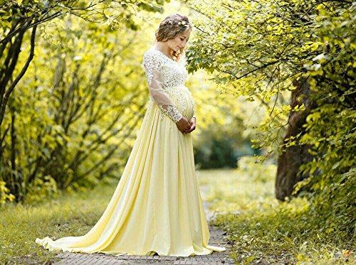 Amazoncom Maternity Long Lace Dress Photoshoot Maternity Gown