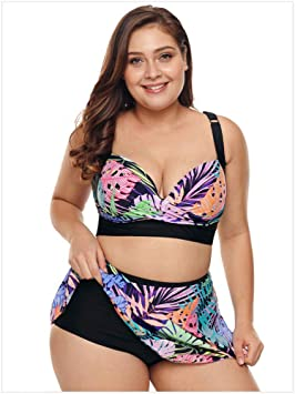 Amadoierly Traje de baño Split Imprimir XL Bikini Falda Sexy Traje ...