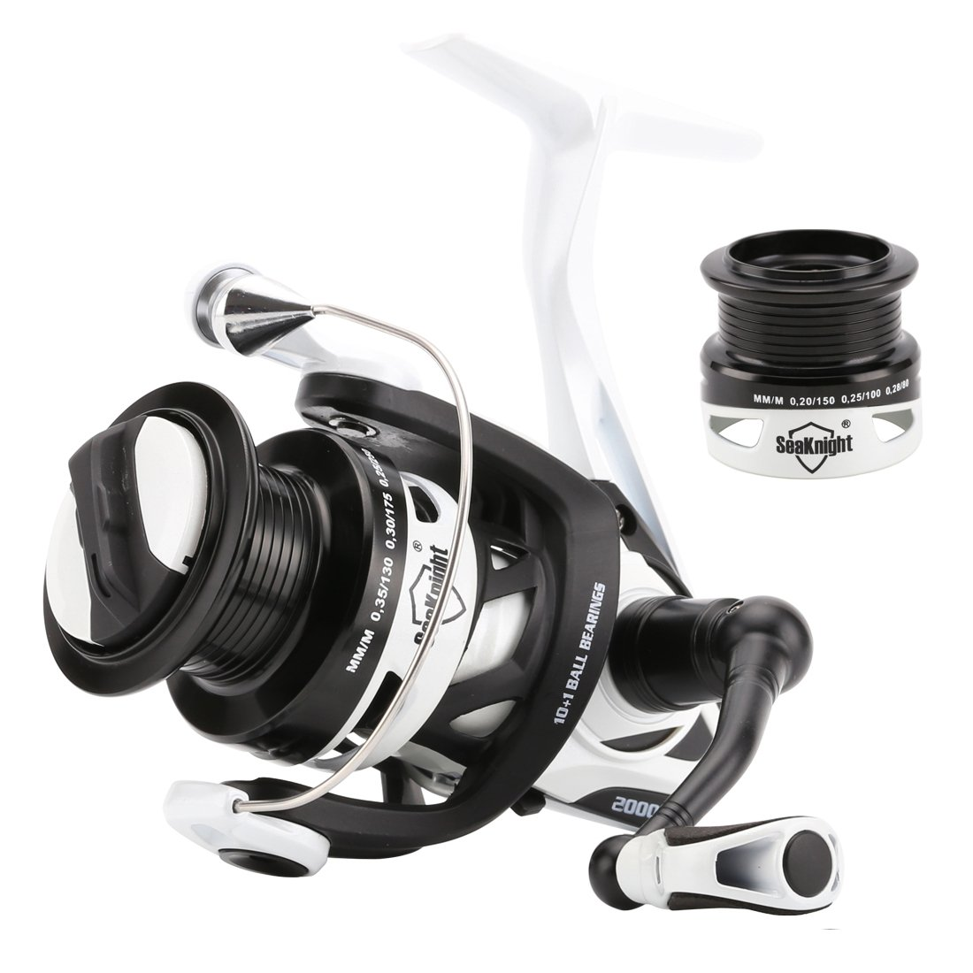 SeaKnight Ph Spinning Reelメタルボディカーボンローター6.2 : 1 Spinning釣りリール高速かつ強力withメタルShallowスペアスプール  6.2:1 Reel-Phantom2000H+Spool B01KLS4KTM