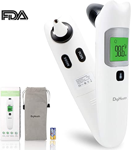 Digital Baby Ear Thermometer Forehead Thermometer 4 in 1 with Fever Alarm Adults