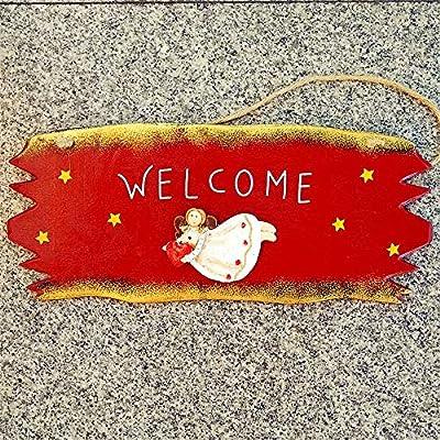 Cartel de bienvenida Letrero de madera Pequeño Ángel ...