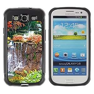 LASTONE PHONE CASE / Suave Silicona Caso Carcasa de Caucho Funda para Samsung Galaxy S3 I9300 / Nature Waterfall