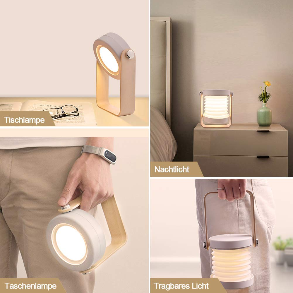 Lampe De Table Portable Pliante Avec Veilleuse Touch