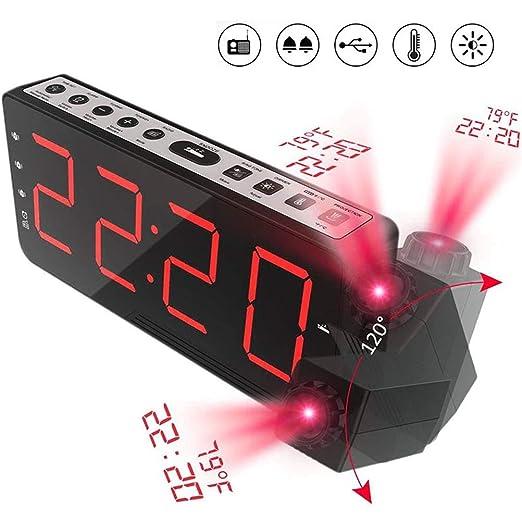 Yzllq Reloj Despertador Digital, Radio Despertador FM, Temperatura ...