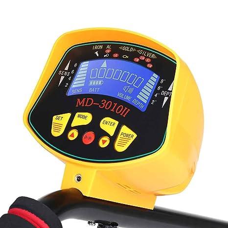 Yiruy Detector de Metales Subterráneo Detector de LCD de Alta Sensibilidad Buscador de Plata de Oro