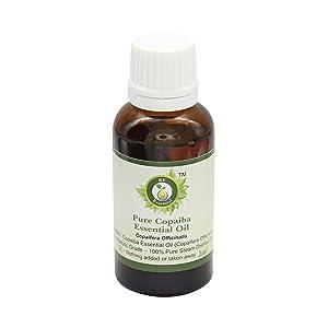 R V Essential Pure Copaiba Essential Oil 30ml (1.01oz)- Copaifera Officinalis (100% Pure and Natural Therapeutic Grade)