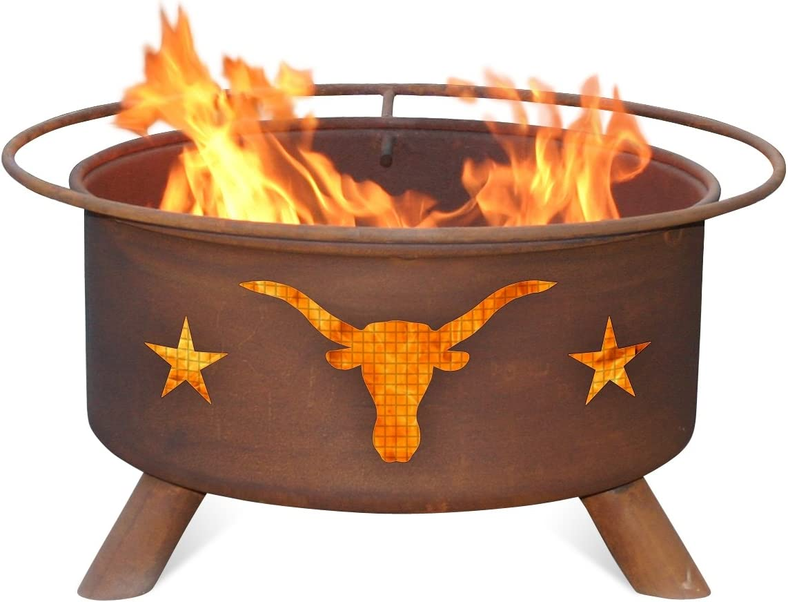 Patina F202 Texas Longhorn Fire Pit
