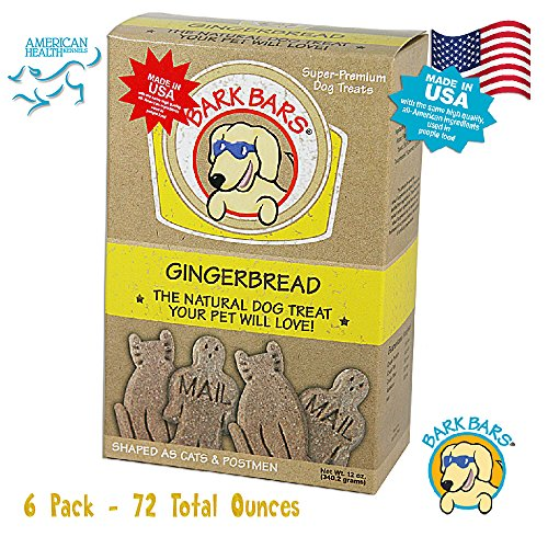 Bark Bars Gingerbread Pet Treat (6 Pack 72 Total Ounces) ()
