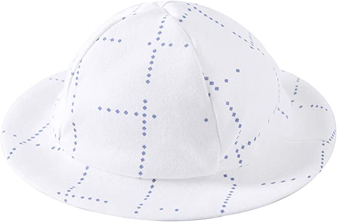 Baby Toddler Blue /& White Plaid Precious Sun Hat One Size