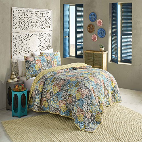 Blissliving Home Riyadh Reversible Quilt Set, Multi, Full/Queen