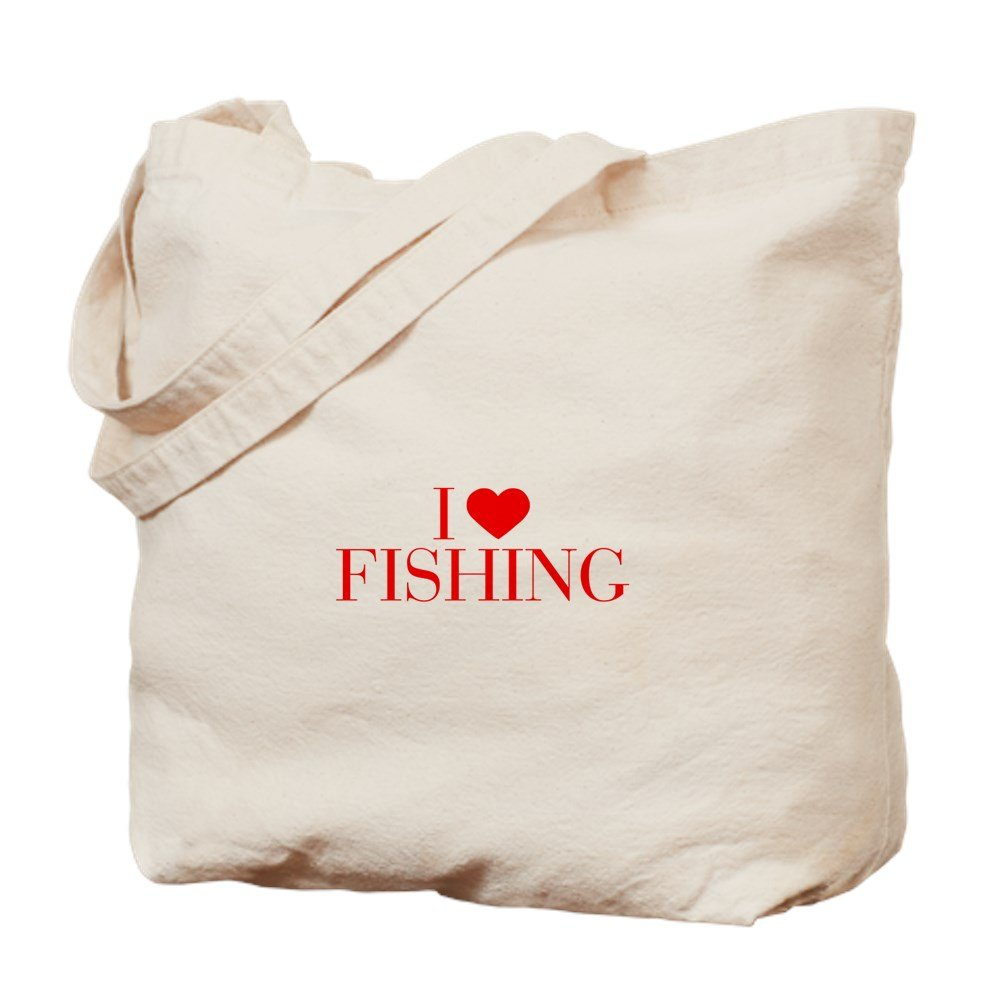 CafePress – I Love fishing-bauレッド500 – ナチュラルキャンバストートバッグ、布ショッピングバッグ B01A5QUILY