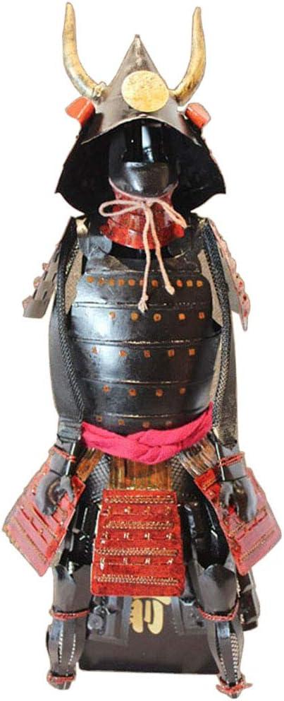Modelo de samurai japonés, Estatua japonesa Escultura Hierro Vintage Armadura Samurai Bar Escritorio Restaurante Decoración vintage