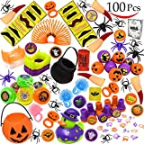 Joyin Toy Over 100 Pieces Halloween Toys Assortment for Halloween Party Favor, School Classroom Rewards, Trick or Treating, Halloween Miniatures, Halloween Prizes, Halloween Gifts