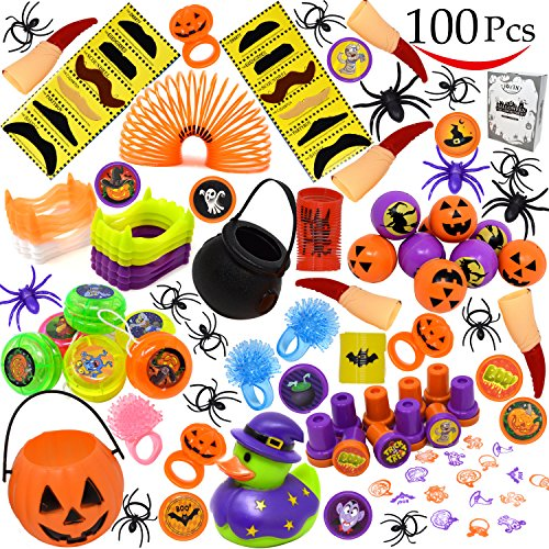 JOYIN Over 100 Pieces Halloween Toys Assortment for