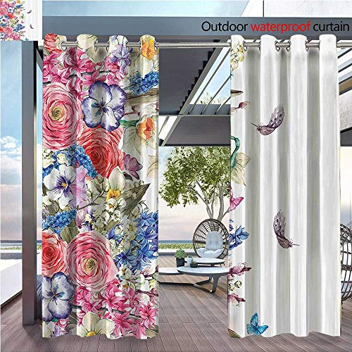 DESPKON Shading Pure Color Modern Minimalist Style Tage Vivid Wreath with Daffodils Hyacinths Chamomile Lilies Butterfly Furniture Material W108 x L108 ()