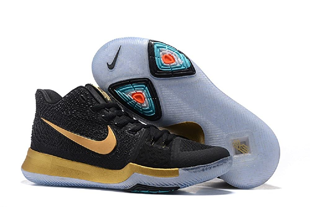 61423ee2bc8f NIKE Kyrie 3 Ep Black Gold Basketball Shoes  Buy Online at Low Prices in  India - Amazon.in