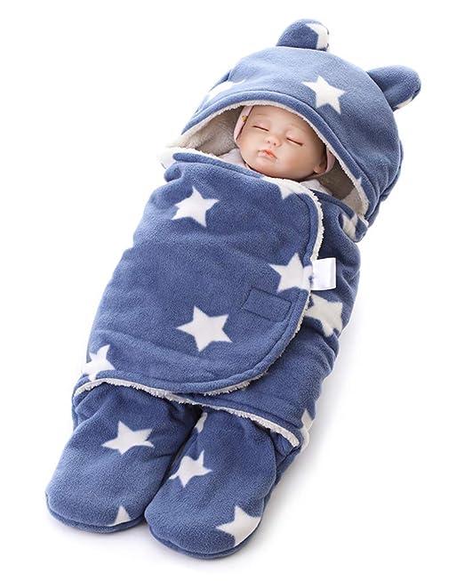 Minetom Saco De Dormir Bebés Recién Nacidos Manta para Bebé Carrito De Bebé Blanket Manta 0-12 Meses Sleeping Bag Felpa Caliente: Amazon.es: Ropa y ...