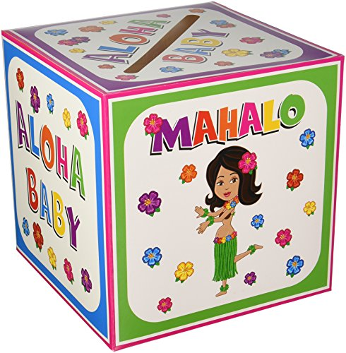 Hula Baby Card Box Party Accessory (1 count) (Baby Shower Recipe Card)