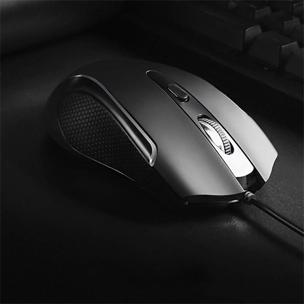 Tensay USB Ergonomic Mice 6 Hintergrundbeleuchtungsmodi Bis zu 3500 DPI RGB Wired Gaming Mouse