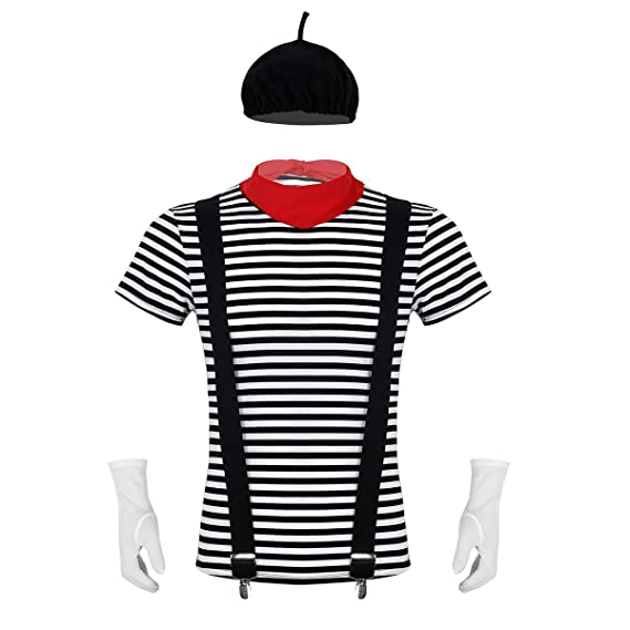 ranrann Disfraz de Mimo Artista para Hombre Mujer Cosplay ...