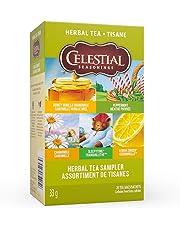 Celestial Seasonings Herbal Tea Sampler, 20 Tea Bags per Box, 1 Box