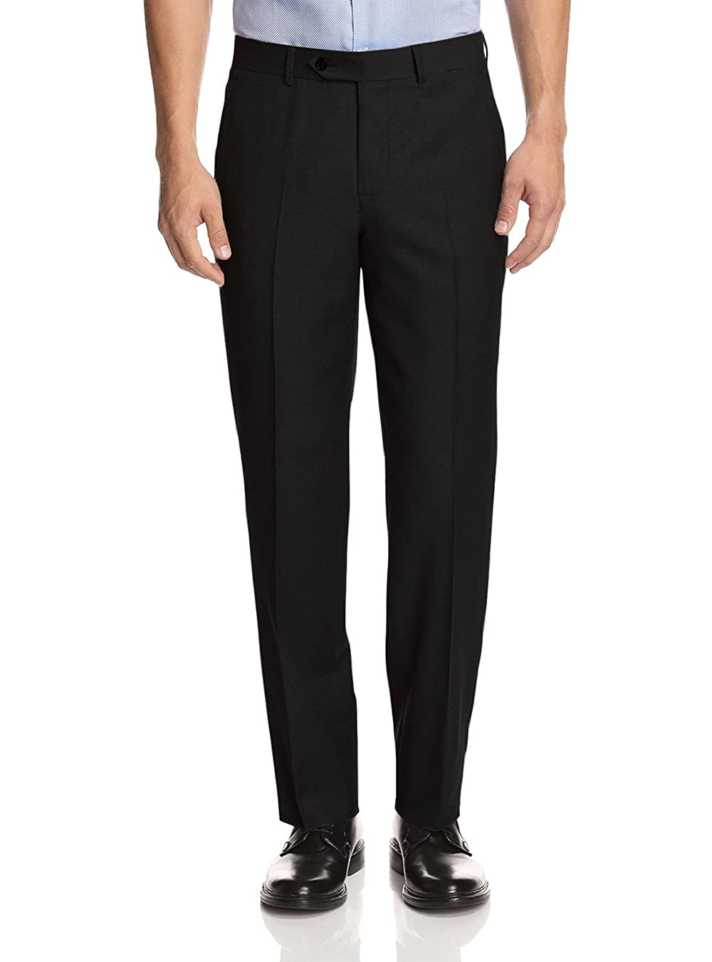 49cac0f57e Men s Flat Front Dress Pants - Suit Separate Piece Length Unhemmed