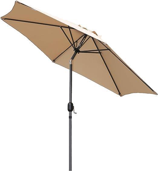 Angel Living 270cm Parasol de Jardín Sombrilla de Aluminio con ...