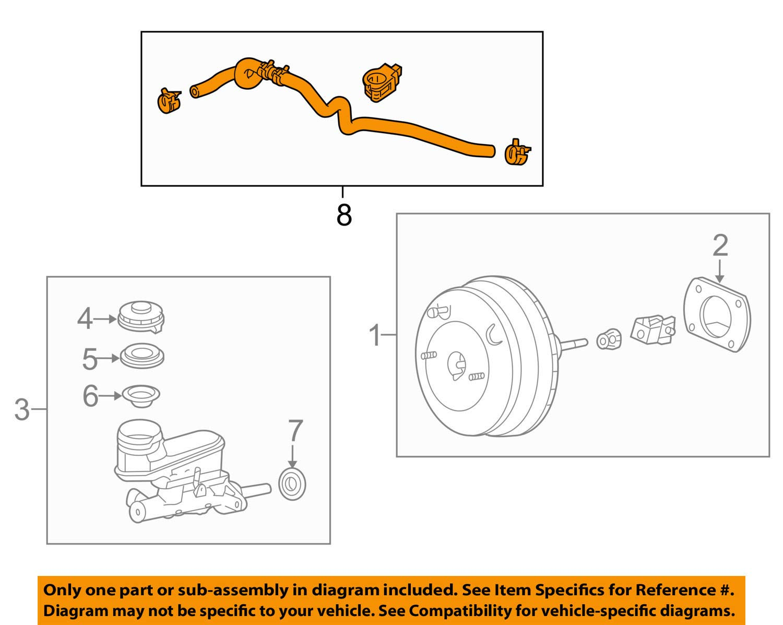 46402-TA1-A02 Brake Master Cylinder Power Tube Assembly Genuine Honda