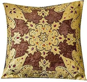 Ikras New Velvet Patch Work Cushion - Multi