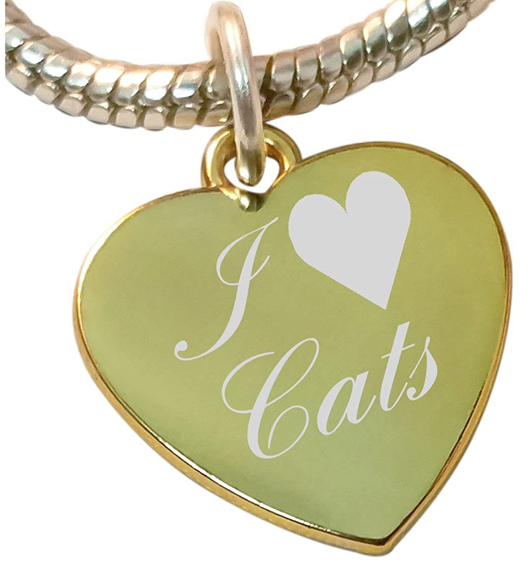 Gatos del encanto del corazón del I, compatible con pandora ...