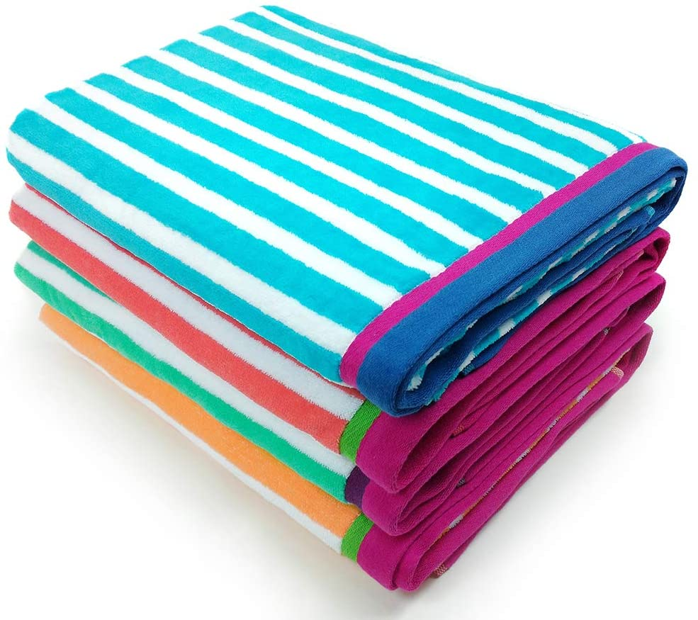 Kaufman - Velour Racing Stripe Towel 4-Pack