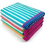 Kaufman - Velour Racing Stripe Towel 4-Pack - 32in X 62in