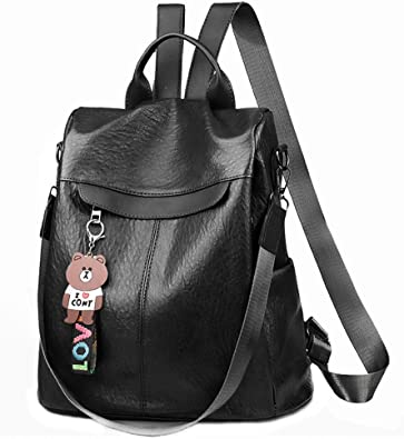 Women Anti-theft Leather School Backpack Travel Waterproof Satchel Shoulder Bag