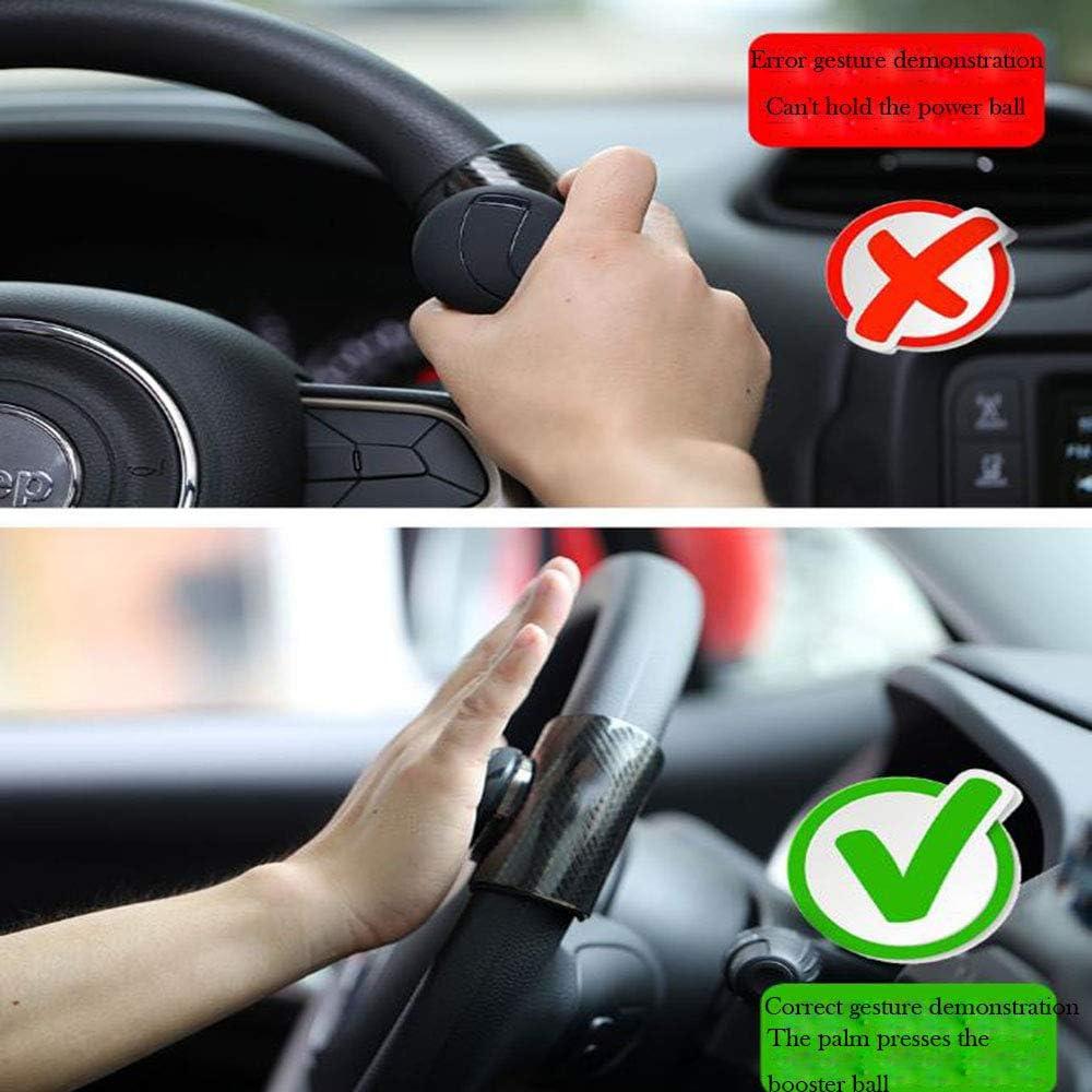JUNSHUO Volante auto Potenza pomello pomello Car Grip manopola Helper Power Aid Ball potenzia il morsetto del pomello per auto